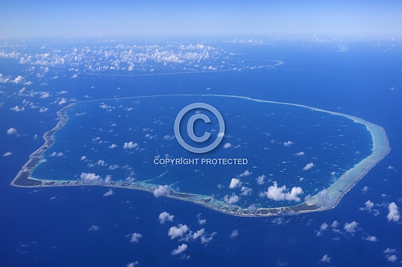 Coral Atoll in French Polynesia