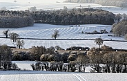 Winter snow in the countryside