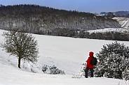 Snow covered hillside - North Yorkshire - United Kingdom