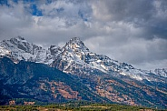 Teton Range with New Snow