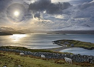 A ring around the sun (sun halo) - Scotland