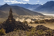 Remote desert valley in Tibet