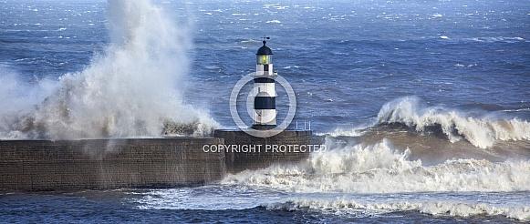 Bad Weather - Seaham Lighthouse