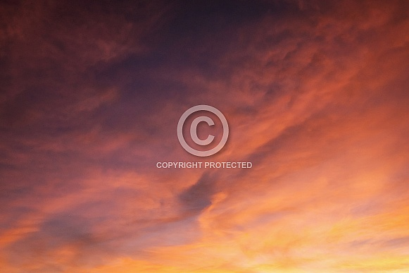 Colourful clouds