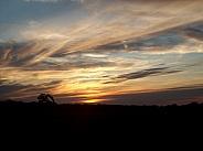 Sunset: Peaceful evening sky