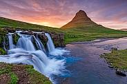 Kirkjufellsfoss waterfall at Iceland
