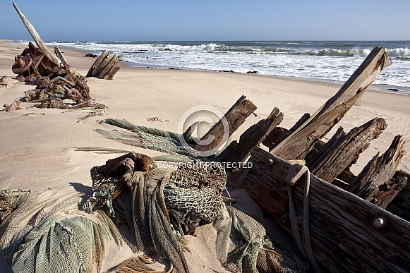 Shipwreck - Skeleton Coast - Namibia