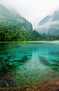 Foggy Blue Lake