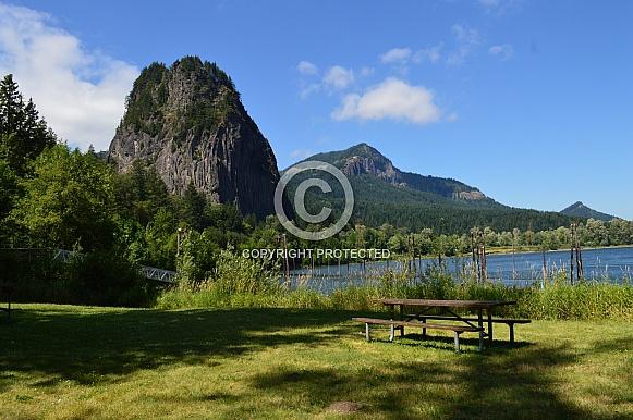 Big Rock and lake