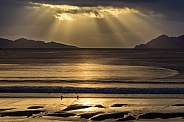 Dramatic sunset - Galicia region of Spain