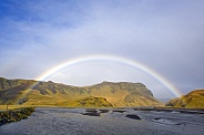 Rainbow over the River Sandvatn - Iceland