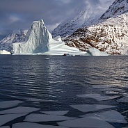 Icebergs - Scoresbysund - Greenland.