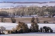 Winter landscape - Yorkshire Wolds - England