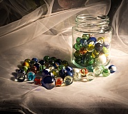 Marbles and Jar