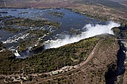 Aerial view of Victoria Falls - Africa