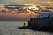 Sunset near Pula - Croatia