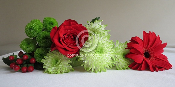 Red And Green Bouquet